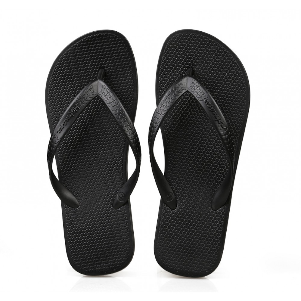 Hotmarzz Men Stylish Summer Beach Slippers  Flip Flops Flat Sandals (Black)