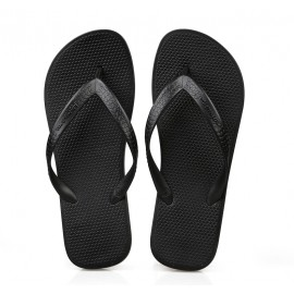 image of Hotmarzz Men Stylish Summer Beach Slippers  Flip Flops Flat Sandals (Black)