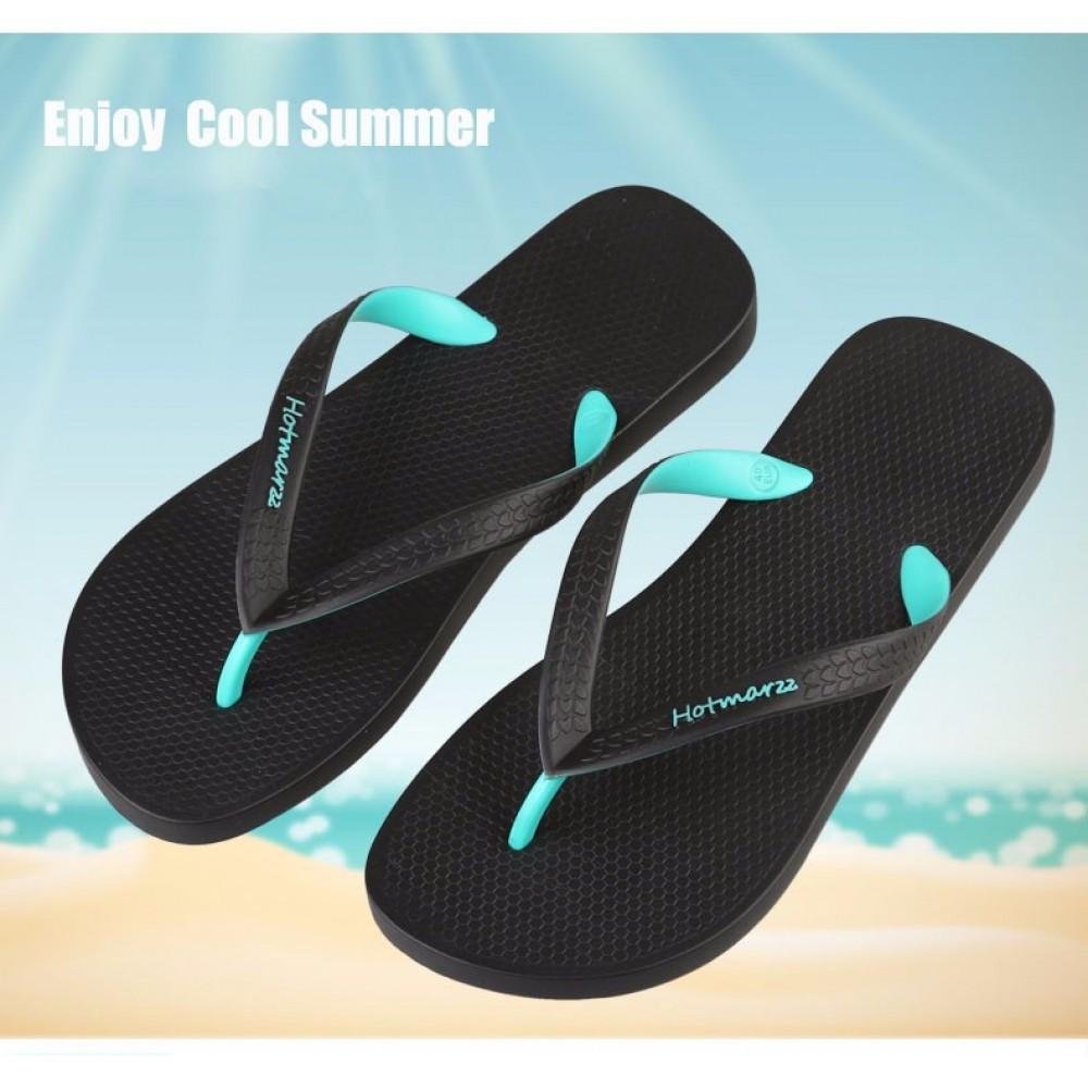 Hotmarzz Men Stylish Summer Beach Slippers  Flip Flops Flat Sandals (Green)