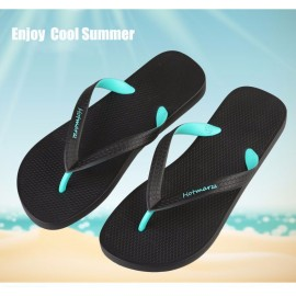 image of Hotmarzz Men Stylish Summer Beach Slippers  Flip Flops Flat Sandals (Green)
