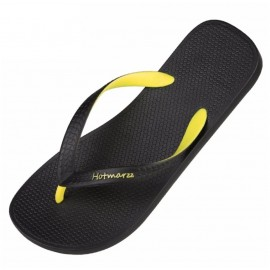 image of Hotmarzz Men Stylish Summer Beach Slippers  Flip Flops Flat Sandals (Yellow)