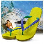 Hotmarzz Men Stylish Summer Beach Slippers  Flip Flops Flat Sandals (Yellow Base)