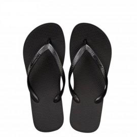 image of Hotmarzz Women Slim Flip Flop Summer Slippers (Black)
