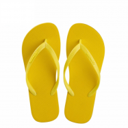 image of Hotmarzz Women Slim Flip Flop Summer Slippers (Yellow)