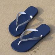 image of Hotmarzz Men Stylish Summer Beach Slippers  Flip Flops Flat Sandals (Blue Base)