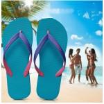 Hotmarzz Men Stylish Summer Beach Slippers  Flip Flops Flat Sandals (Sky Blue Base)