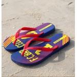 Hotmarzz Men Stylish Summer Beach Slippers  Flip Flops Football Series (Red)