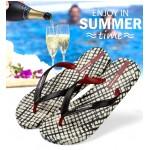 Hotmarzz Men Stylish Summer Beach Slippers  Flip Flops (Lattice)