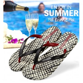 image of Hotmarzz Men Stylish Summer Beach Slippers  Flip Flops (Lattice)
