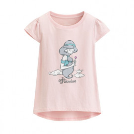 image of Lativ: 迪士尼系列包肩印花T恤-38-童