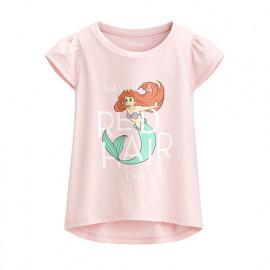 image of Lativ : 迪士尼系列包肩印花T恤-42-童