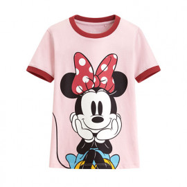 image of Lativ : 迪士尼系列羅紋配色印花T恤-33-童