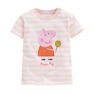 image of Lativ : Peppa Pig條紋印花T恤-09-小童