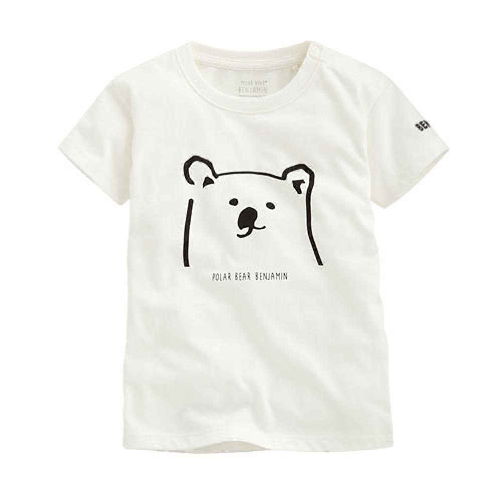 Lativ : Polar Bear Benjamin印花T恤-02-Baby