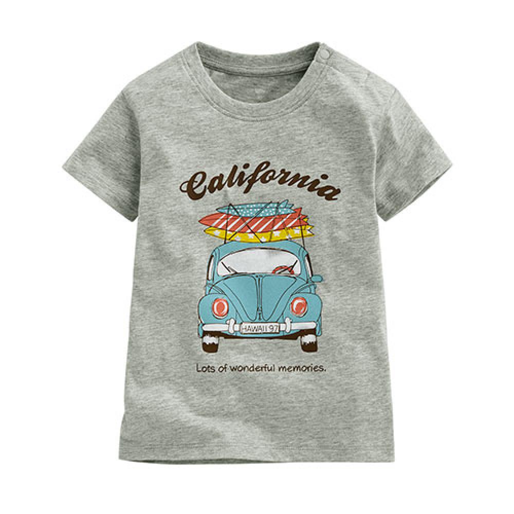 Lativ : 衝浪老爺車印花T恤-Baby Surf classic car print T-shirt-Baby