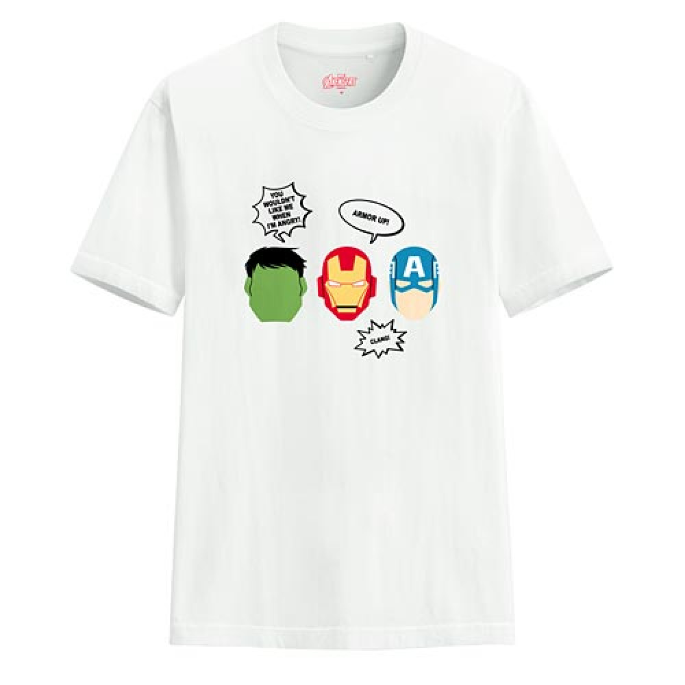 Lativ : 漫威系列印花T恤-04-男