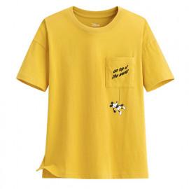 image of Lativ : 迪士尼系列口袋寬版印花T恤-55-女