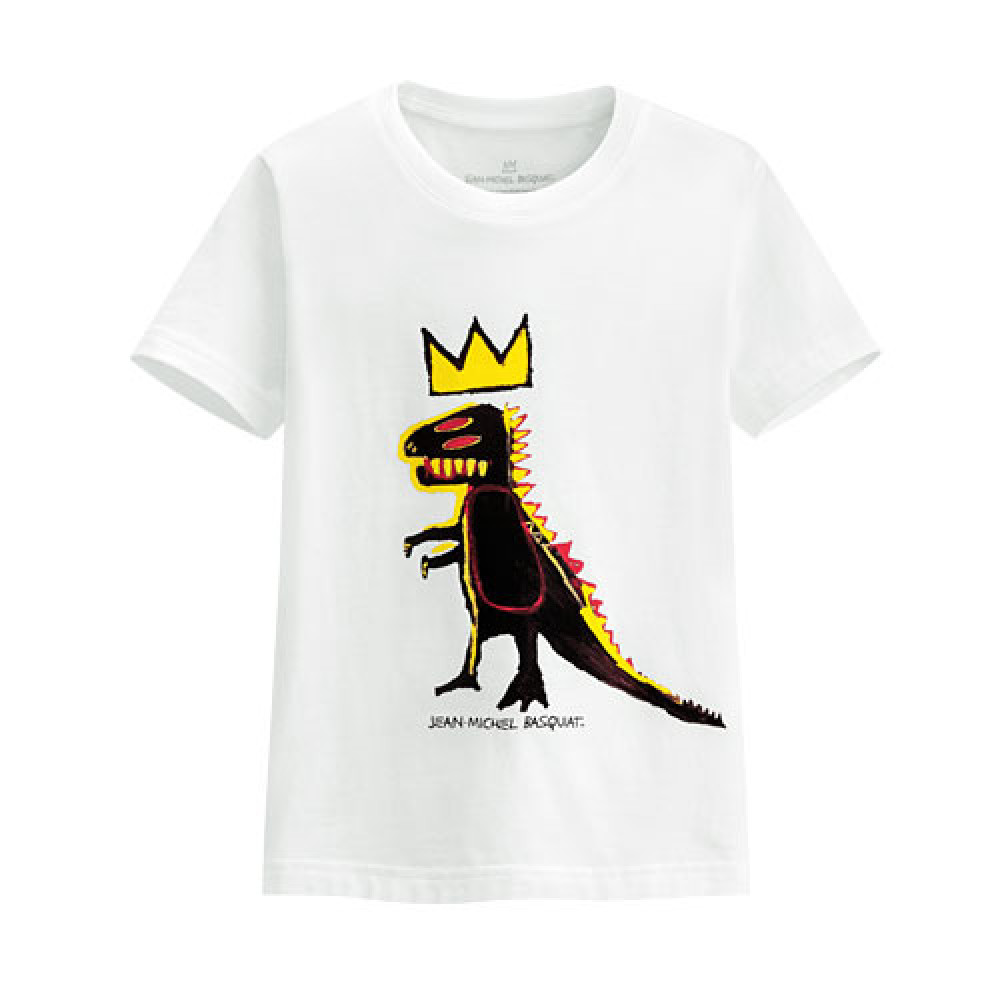 Lativ : Jean-Michel Basquiat印花T恤-08-童