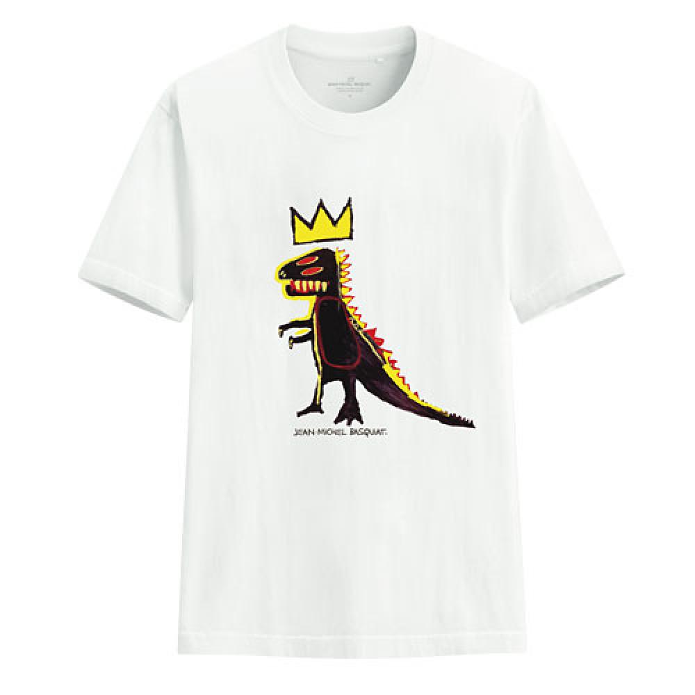 Lativ : Jean-Michel Basquiat印花T恤-08-男