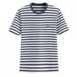 Lativ : Jean-Michel Basquiat條紋印花T恤-07-男