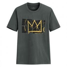 image of Lativ : Jean-Michel Basquiat印花T恤-01-男
