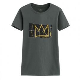 image of Lativ : Jean-Michel Basquiat印花T恤-01-女