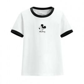 image of Lativ : 迪士尼系列羅紋配色印花T恤-09-童