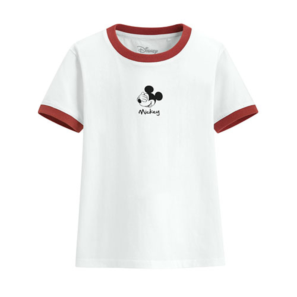 Lativ : 迪士尼系列羅紋配色印花T恤-09-童