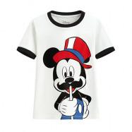 image of Lativ : 迪士尼系列羅紋配色印花T恤-32-童