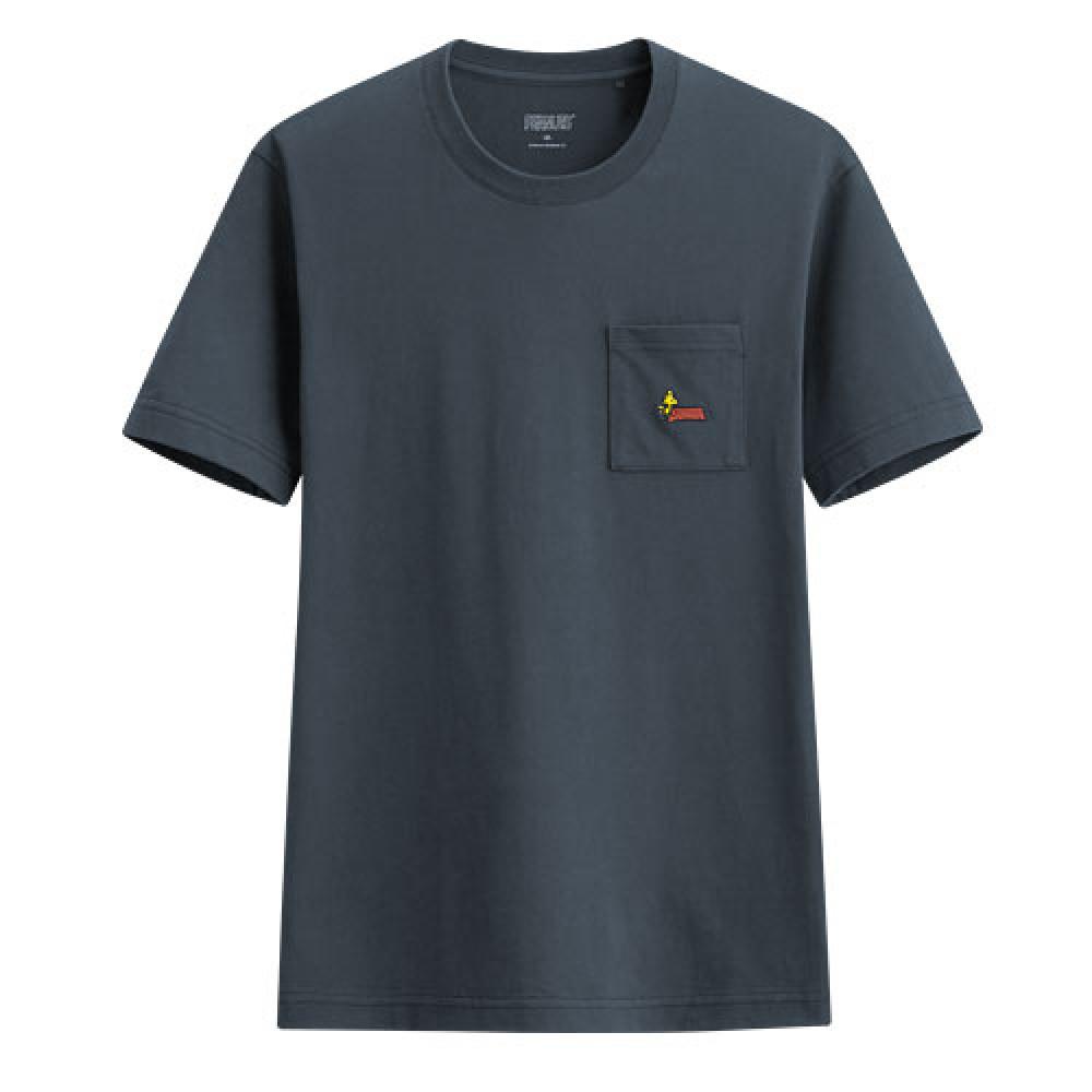 Lativ : 史努比口袋印花T恤-04-男