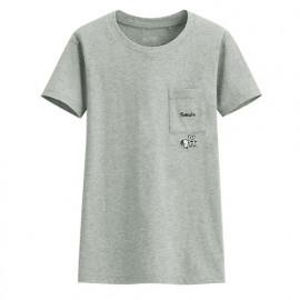 image of Lativ : 史努比口袋印花T恤-08-女