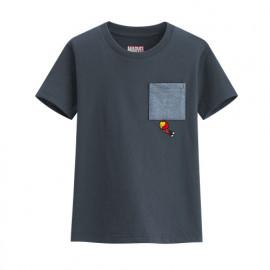 image of Lativ : 漫威系列口袋印花T恤-05-童