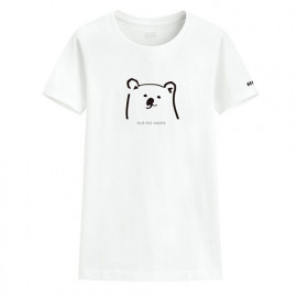 image of Lativ : Polar Bear Benjamin印花T恤-02-女