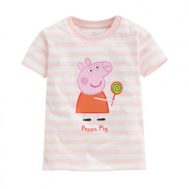 image of Lativ : Peppa Pig條紋印花T恤-09-小童