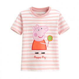 image of Lativ : Peppa Pig條紋印花T恤-09-童