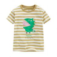 image of Lativ : Peppa Pig條紋印花T恤-11-小童