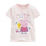 Lativ : Peppa Pig條紋印花T恤-12-小童