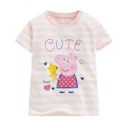 image of Lativ : Peppa Pig條紋印花T恤-12-小童