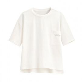 image of Lativ : 竹節棉口袋寬鬆上衣-童
