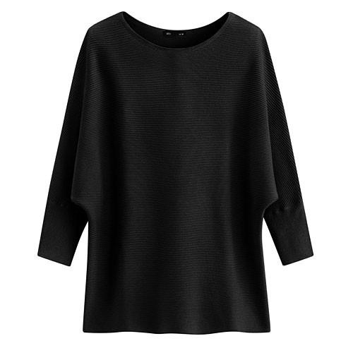 image of Lativ :  連袖針織衫-女( 黑色)