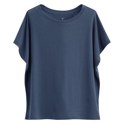 image of Lativ: 輕柔短袖衫-女( 藍色)