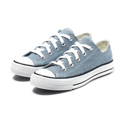 Lativ:棉質經典帆布休閒鞋-女( 丹寧藍)