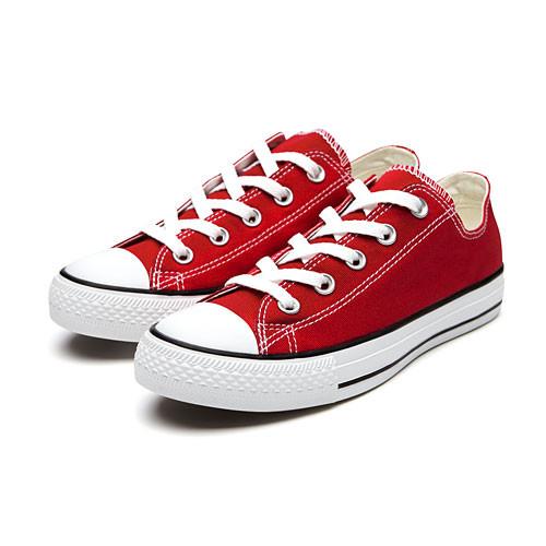 image of Lativ:棉質經典帆布休閒鞋-女( 紅色)