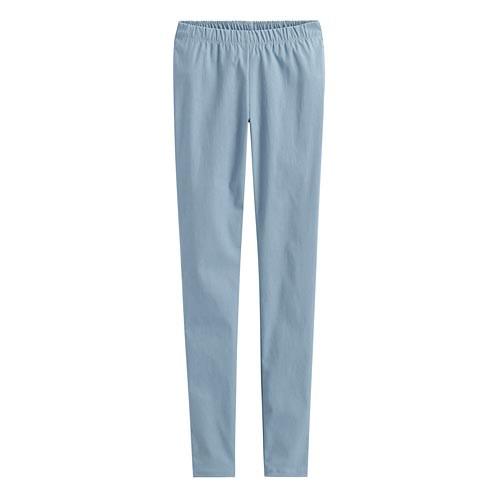 Lativ: 彈力顯瘦窄管褲-女( 灰藍)