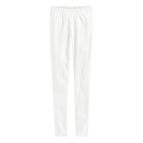 Lativ: 彈力顯瘦窄管褲-女( 白色)