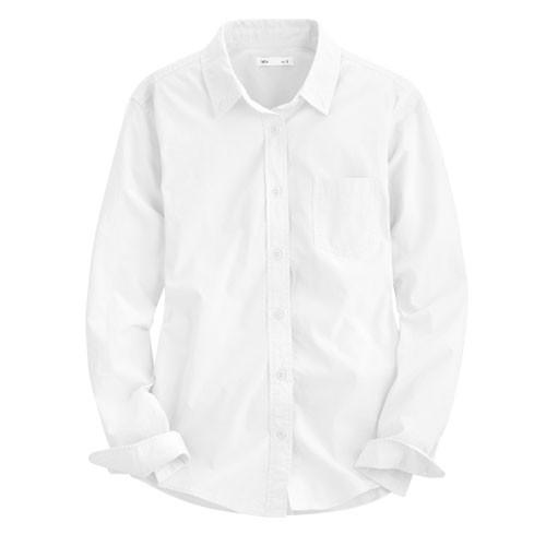 Lativ: 柔棉長袖襯衫-女( 白色)