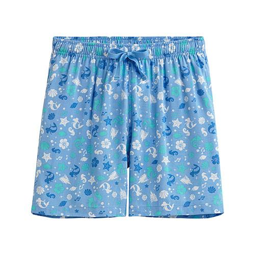 Lativ :迪士尼系列輕便短褲-女( 淺藍)