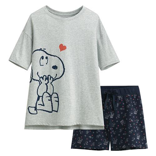 Lativ :史努比輕柔loungewear-女( 淺麻灰)