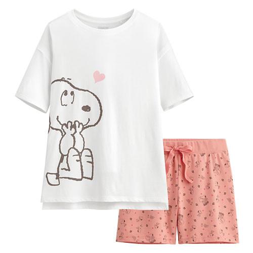 Lativ :史努比輕柔loungewear-女( 白色)
