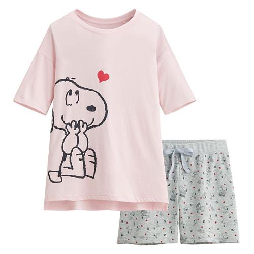 image of Lativ :史努比輕柔loungewear-女( 淡粉)